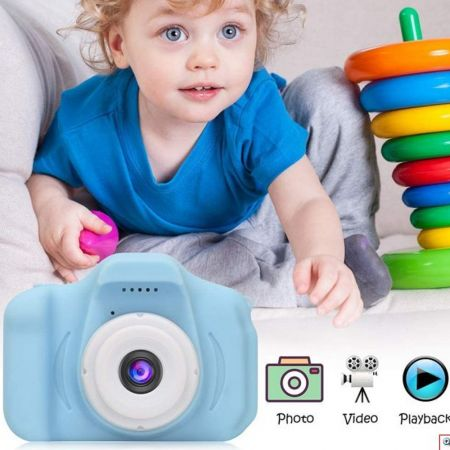 HD Γαλάζιο Μίνι Ψηφιακή Παιδική Φωτογραφική Μηχανή / Κάμερα - Επαναφορτιζόμενη USB Kids Camera Toy για Παιδιά - Skroutz.com.cy