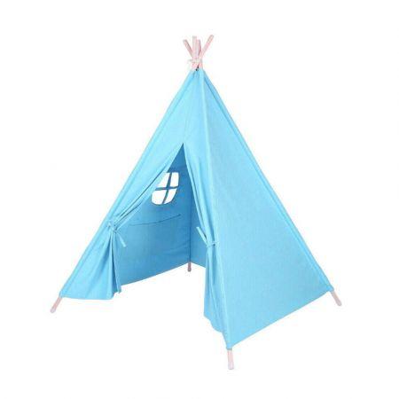 Παιδική Ινδιάνικη Σκηνή 150 x 155 x 130 cm Χρώματος Μπλε Hoppline HOP1000941-3 - Skroutz.com.cy