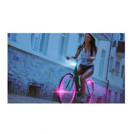 Φώτα LED για Τροχούς Ποδηλάτου Χρώματος Ροζ 2 τμχ - Wheel LED Lights
