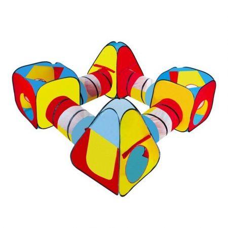 Παιδική Σκηνή Τούνελ 8 σε 1 σε πολύχρωμο σχέδιο, 250x90 cm