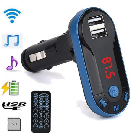 FM Transmitter για τη μετάδοση μουσικής με Bluetooth, USB/SD και φορτιστή - Μπλε - 53606 - Skroutz.com.cy