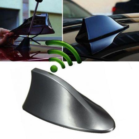 Κεραία αυτοκινήτου οροφής αυτοκόλλητη Shark Fin - Γκρι - 53868