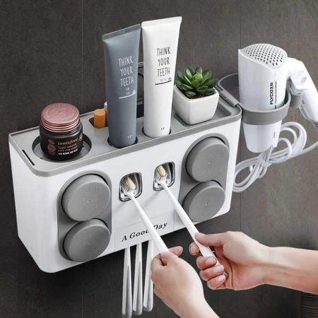 Βάση τοίχου για αξεσουάρ μπάνιου - Γκρι - 54434 - Skroutz.com.cy