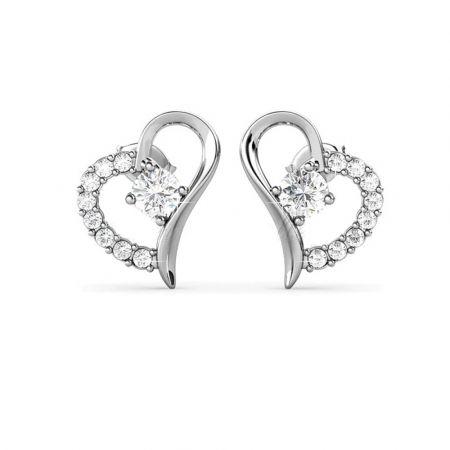Σκουλαρίκια Heart απο  Swarovski της Her Jewellery  - Skroutz.com.cy