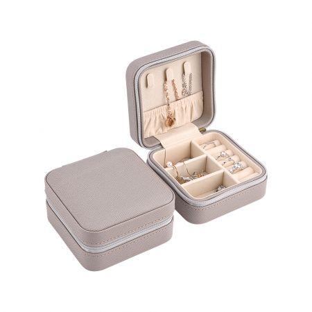 Κοσμηματοθήκη - Μπιζουτιέρα 10 x 10 x 5 cm Χρώματος Γκρίζο - Jewelry Organizer - Gray