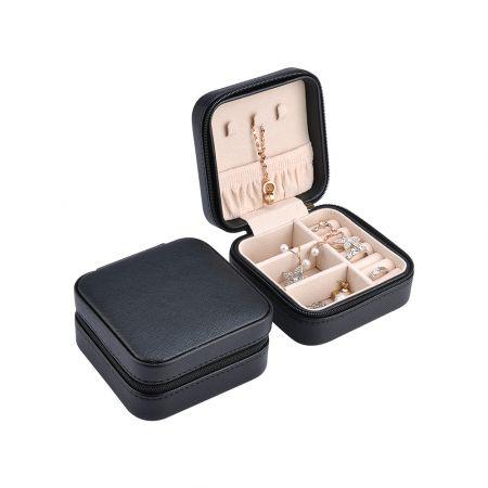 Κοσμηματοθήκη - Μπιζουτιέρα 10 x 10 x 5 cm Χρώματος Μαύρο - Jewelry Organizer - Black