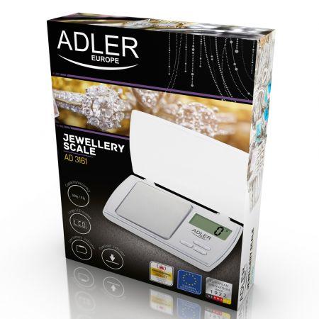 Ψηφιακή Ζυγαριά Ακριβείας 0.01 - 500 g Adler AD-3161 - skroutz.com.cy