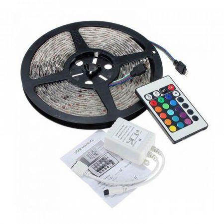 Αυτοκόλλητη Ταινία LED 5 M RGB 5050 12 V Με Τηλεχειριστήριο