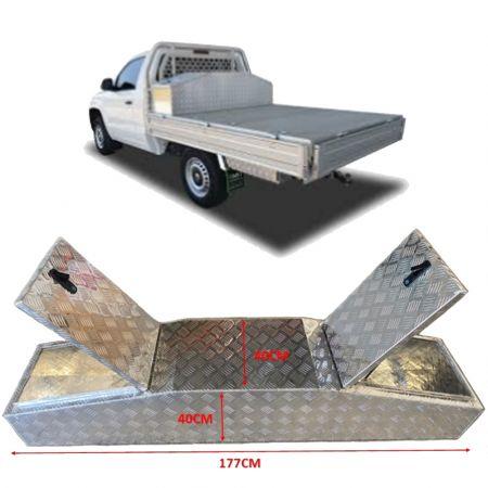Κιβώτιο Εργαλείων Αλουμινίου - Ιδανικό για την Αποθήκευση Εμπορευμάτων για Φορτηγά 177x40x40CM