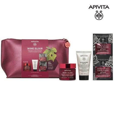 Apivita Promo Wine Elixir Συσφιξη & Αίσθηση Lifting, Wrinkle & Firmness Lift Day Cream SPF30 Αντιρυτιδική Κρέμα Ημέρας, 40ml & ΔΩΡΟ Cleansing Milk  & Express Mask - skroutz.com.cy