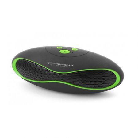 Ασύρματο Ηχείο Bluetooth Esperanza Trival Μαύρο-Πράσινο EP117KG
