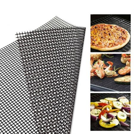BBQ Grill Mat Reusable Kitchen Cooking Mesh Grill Mat Non-stick Teflon Grilling Mesh Mat Barbecue Liner Outdoor BBQ Accessories - skroutz.com.cy