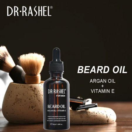 Λάδι Γενειάδας με Αργανέλαιο + Βιταμίνη Ε 50ml - Beard Oil with Argan Oil + Vitamin E 50ml - Dr Rashel