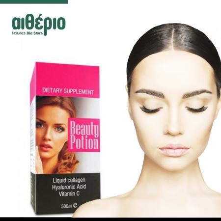 Κολλαγόνο - Υαλουρονικό - Βιταμίνη C σε 1 συμπλήρωμα διατροφής, Beauty Potion 500ml