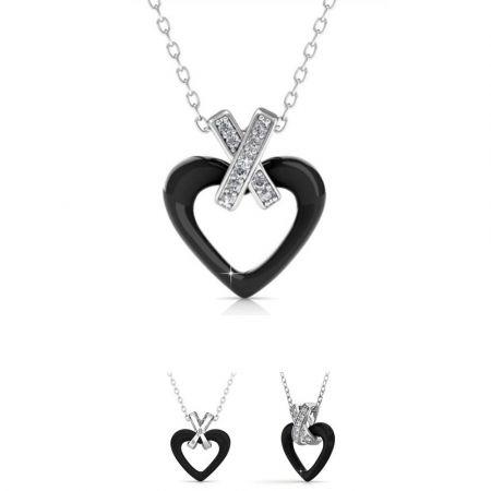 Κεραμικό Κολιέ-Καρδιά της Her Jewellery - Μαύρο -Skroutz.com.cy