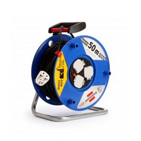 HEAVY DUTY 3-SOCKET EXTENSION CABLE REEL 50 METRE 240V -  BRE-1208063
