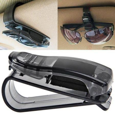 Plastic Sunglasses & Glasses Holder Clip - Car