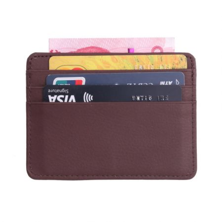 Fashion Women Lichee Pattern Bank Card Package Coin Bag Card Holder Travel Leather Men Wallets Women Credit Card Holder Cover - skroutz.com.cy