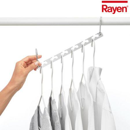 RAYEN ΚΡΕΜΜΑΣΤΑΡΙ ΠΟΛΛΑΠΛΟ Χ4 - Rayen Multi Hanger 4 Units, Chrome, 26 x 7.2 x 5.2 and 37.2 cm - skroutz.com.cy