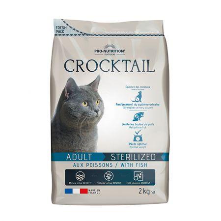 Crocktail adult cat sterilized fish 2kg