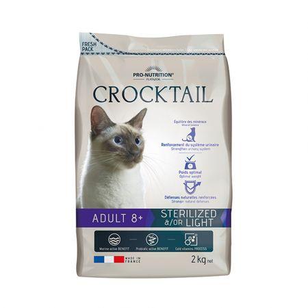 Crocktail adult8+ cat sterilized/light 2g - skroutz.com.cy
