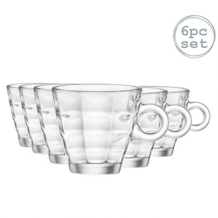 Bormioli Rocco Cube Espresso Coffee Glasses 100ml Set Of 6 - skroutz.com.cy