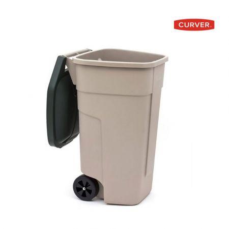 CURVER WHEELED GARDEN REFUSE BIN 110L-BEIGE 58X52X88 - skroutz.com.cy