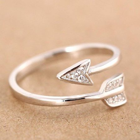 Δαχτυλίδι από 925 Sterling Silver σε Σχήμα Τόξου