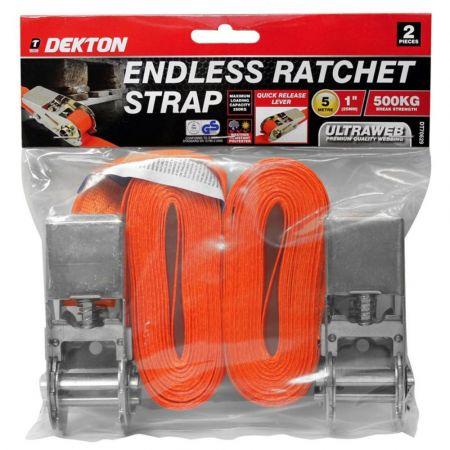 dekton 2pc 25mm x 5m endless ratchet strap se dt70629 - skroutz.com.cy