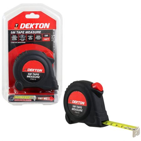 Dekton DT55110 Tape Measure, Black/Red, 5 m - skroutz.com.cy
