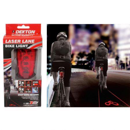 Dekton Laser ποδηλάτου νυχτερινής ασφάλειας DT50598