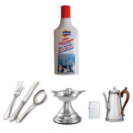 delu silver polishing foam 150 ml - skroutz.com.cy