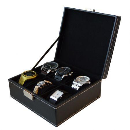 Deluxa Θήκη Ωρολογίων με 6 θέσεις, και κοσμηματοθήκη Κομψή δερμάτινη εμφάνιση με βελούδινη εσωτερική επένδυση, 17320 - skroutz.com.cy