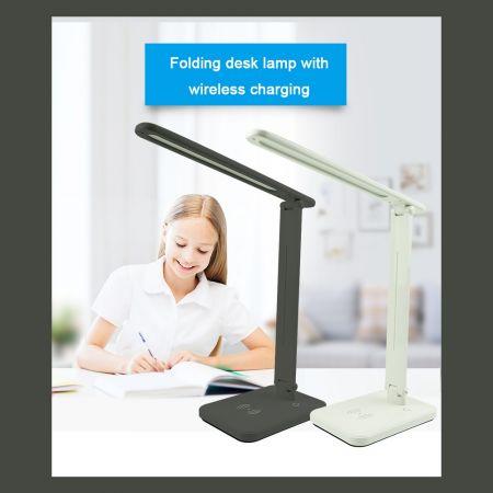 Έξυπνο φωτιστικό LED με ασύρματο φορτιστή κινητού – LED Desk Lamp with Wireless Charger - skroutz.com.cy