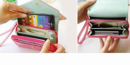 Πορτοφόλι με Θήκες για Κάρτες, Χρήματα & Smartphones