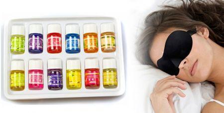 1 Μάσκα Ύπνου 3D-12 Μπουκαλάκια με  Αιθέρια Έλαια