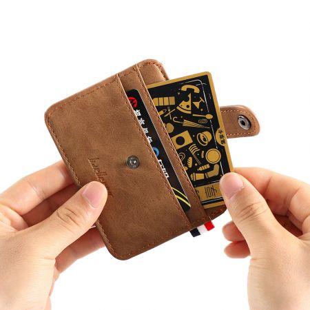 Men's Leather ID Credit Card Wallet Slim Money Pocket Case