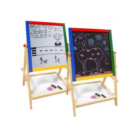 Marionette Wooden Toys Παιδικός Μαυροπίνακας & Λευκός Πίνακας με ξύλινο σκελετό 65cm ύψους, 85499 = Skroutz.com.cy