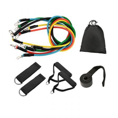 Σετ 5 Ελαστικών Ελατηρίων Αντίστασης Set Fitness Elastic Exercise Resistance Band - skroutz.com.cy