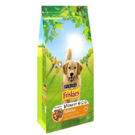 Ξηρά Τροφή Friskies Balance Για Ενήλικους Σκύλους Με Κοτόπουλο & Πρόσθετα Λαχανικά - 4Kg