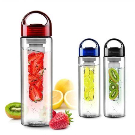 700ml Plastic Fruit Infuser Water Bottle with Filter Leakproof Sport Hiking Camping Fruit Drink Bottle E2S bpa free - skroutz.com.cy