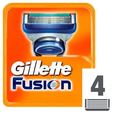 Gillette Fusion 5 Ανταλλακτικά Ξυριστικής Μηχανής, 4 τεμάχια - skroutz.com.cy