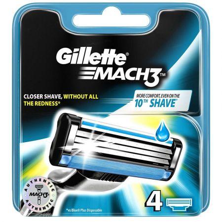 Gillette Mach 3 Λεπίδες Ξυρίσματος 4pcs - skroutz.com.cy