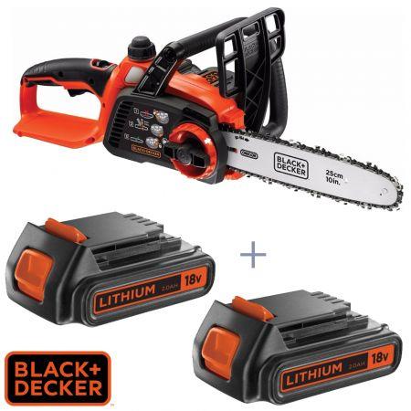 Αλυσοπρίονο Li-On Με 2 χ Μπαταρίες 18V 2.0Ah - 25cm bar Black & Decker GKC1825LST - QW - skroutz.com.cy