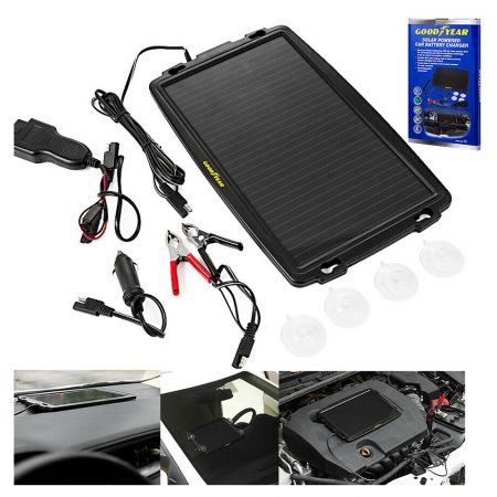 Goodyear Solar Powered Car Battery Charger - GY901046 - skroutz.com.cy