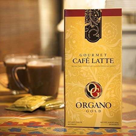 Organo Gold Gourmet Cafe Latte Coffee With Ganoderma Lucidum (1 Box of 20 Sachets) - skroutz.com.cy