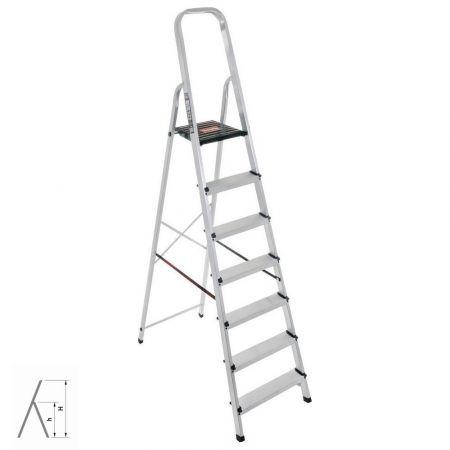 Hobby Σκάλα Αλουμινίου 6+1 H806