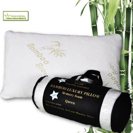 Μαξιλάρι Herzberg Bamboo Luxury Memory Foam Royalty Comfort Queen HG-5076BM