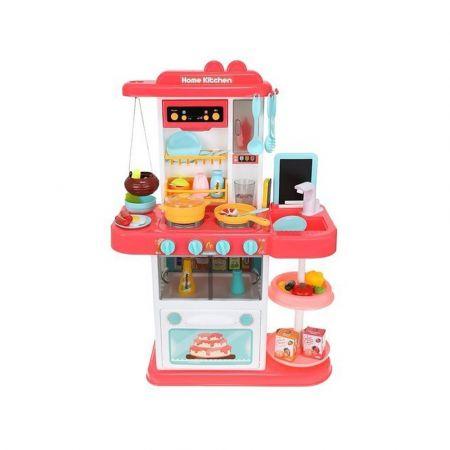 Σετ Παιδική Κουζίνα 43 τεμαχίων με Ηχητικές Ειδοποιήσεις σε ροζ χρώμα, 23x50x72 cm - skroutz.com.cy