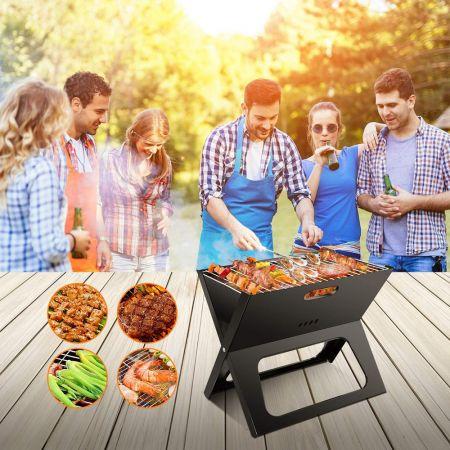 Φορητή Επιτραπέζια Γκριλιέρα Ψησταριά Μπάρμπεκιου BBQ Grill  40X28X30cm, Picnic grill - skroutz.com.cy